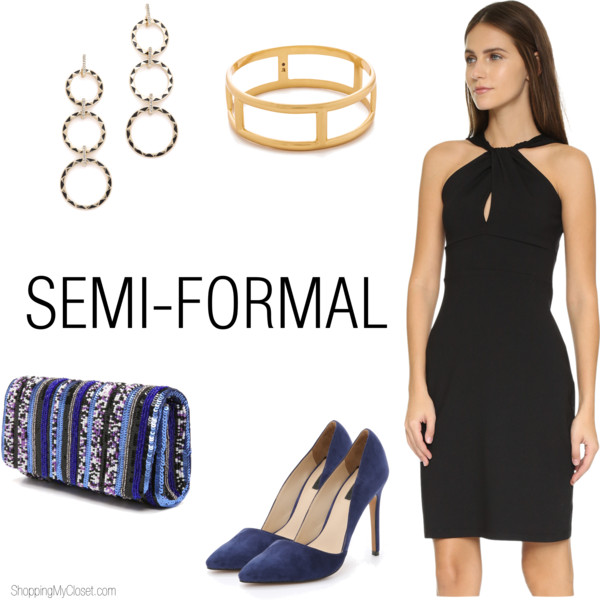 Semi-formal wedding guest attire | see all the details at www.shoppingmycloset.com