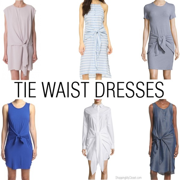 Tie waist dress - see all the picks at www.shoppingmycloset.com