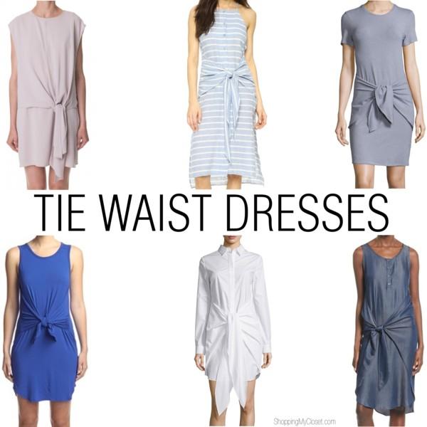 Tie waist dress - see all the picks at www.shoppingmycloset.com