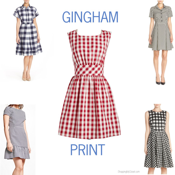Gingham dresses | see all the picks at www.shoppingmycloset.com