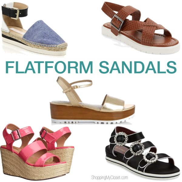 Flatform sandals | see all the picks at www.shoppingmycloset.com