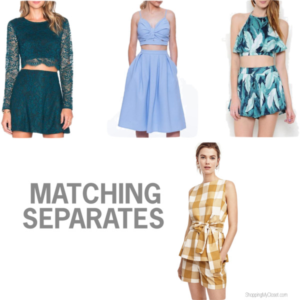 Matching sets | see all the picks at www.shoppingmycloset.com