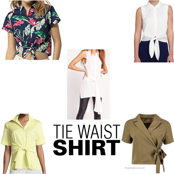 Tie waist shirt | see all the picks at www.shoppingmycloset.com