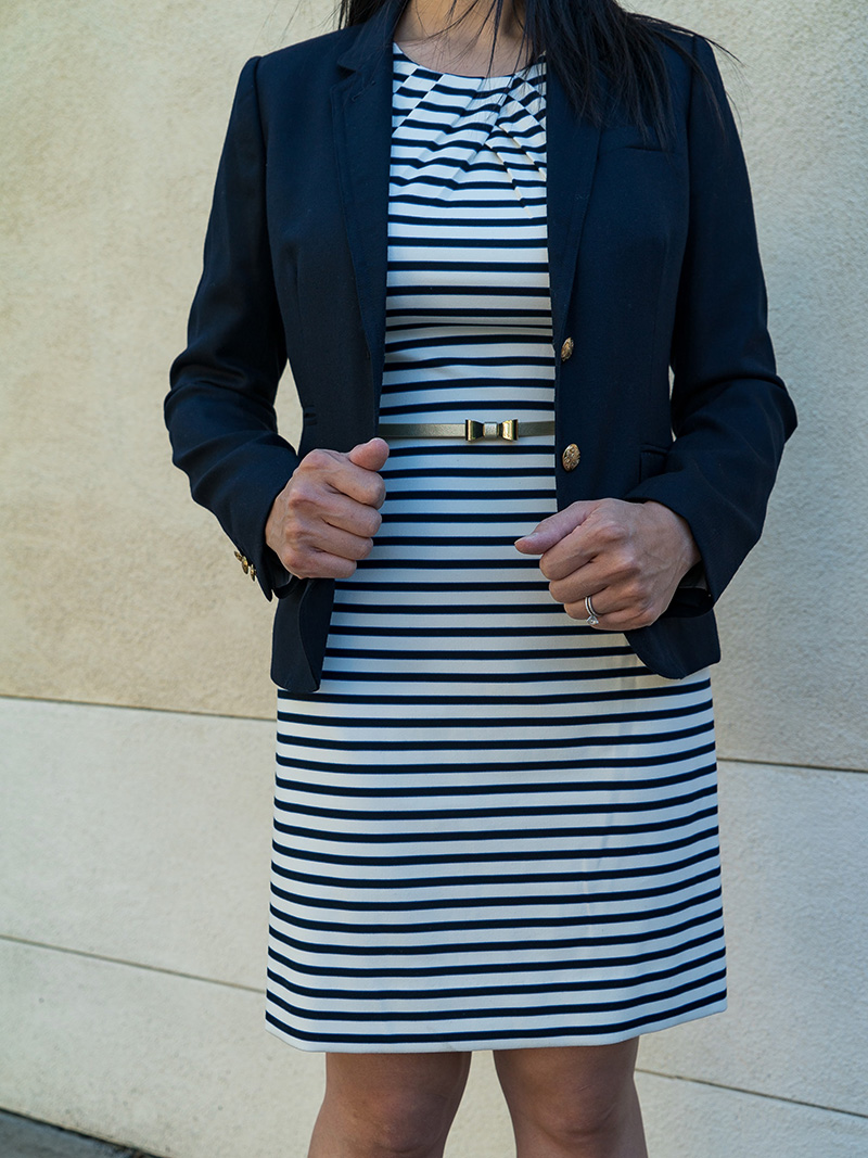 How to style a stripe dress  7b70efe60