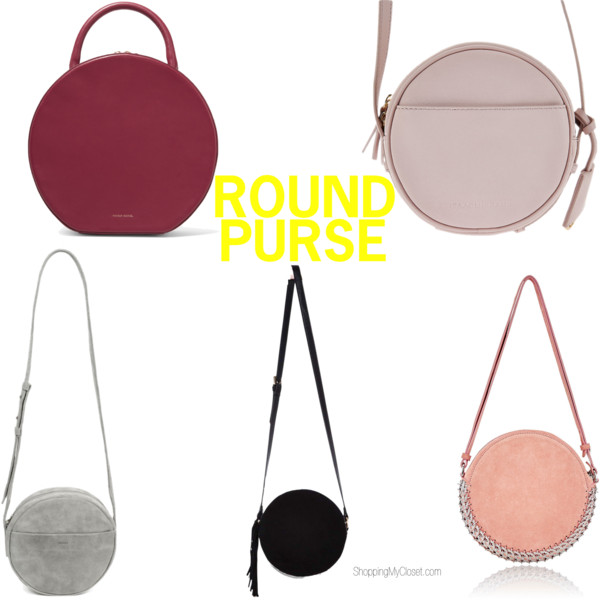 Style: round purses   see all the picks at www.shoppingmycloset.com
