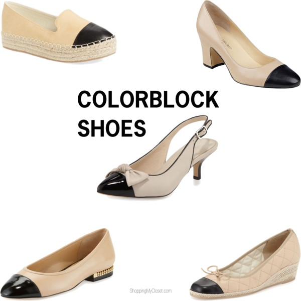 Colorblock shoes | see all the picks at www.shoppingmycloset.com