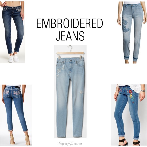Embroidered jeans | see all the picks at www.shoppingmycloset.com