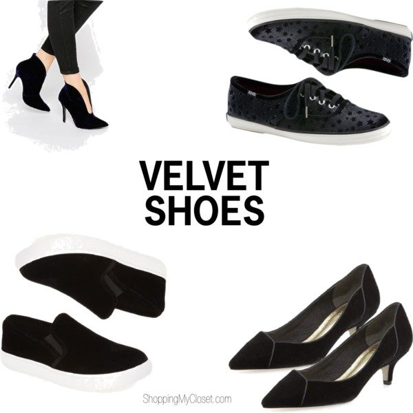Velvet shoes | see all the picks at www.shoppingmycloset.com