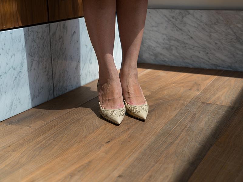 Blue blouse | stripe tiered tie front waist skirt | nude laser cut heels | www.shoppingmycloset.com    @jcrew #jcrew @nordstrom #nordstrom @valentino #valentino