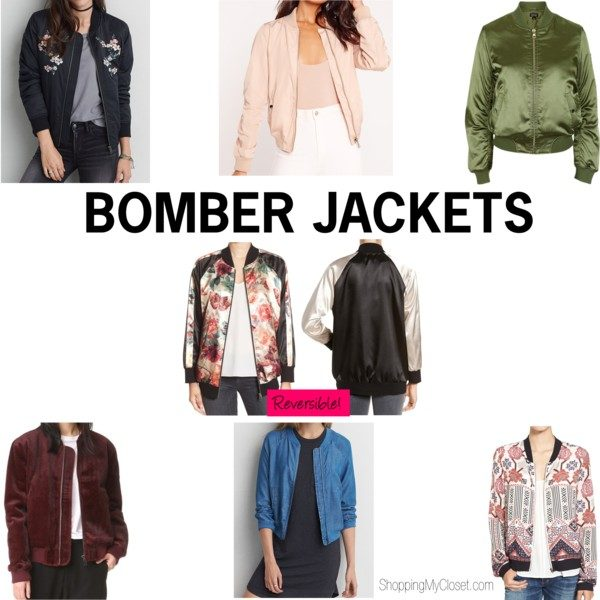 Bomber jackets | see all the picks at www.shoppingmycloset.com