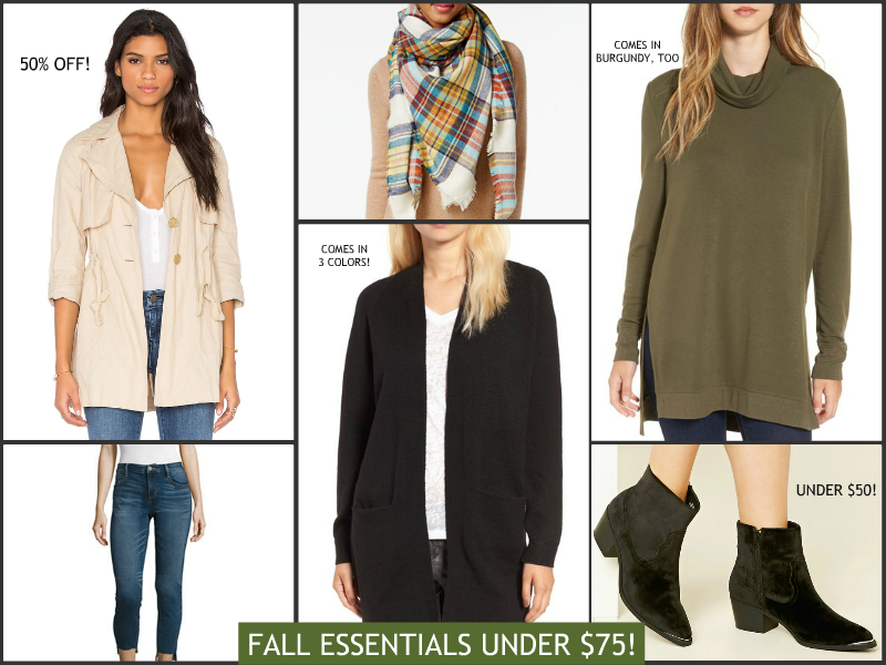 Fall essentials under $75 | see all the picks at www.shoppingmycloset.com
