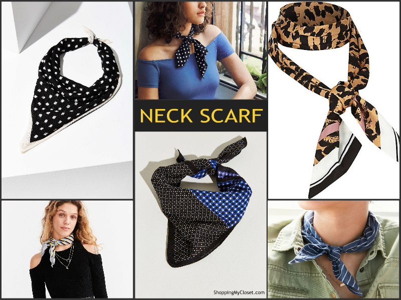 Neck scarf | see all the picks at www.shoppingmycloset.com