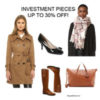 Investment pieces at 30% off | see all the finds at www.shoppingmycloset.com #plaidscarf #trenchcoat #ferragamo #toryburch #riding boots #weekenderbag #madewell