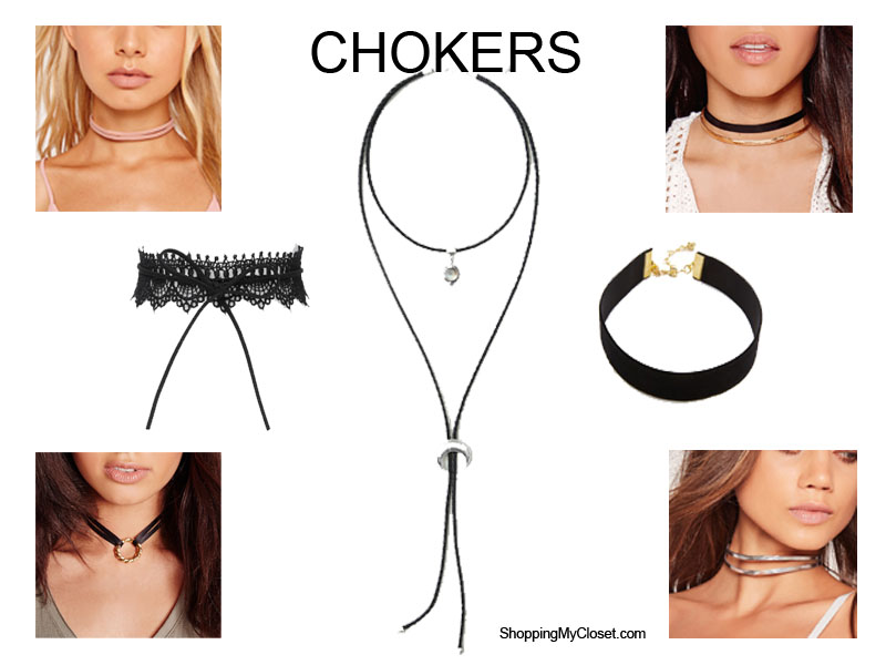 Style: neck chokers - all under $35!   see all the picks at www.shoppingmycloset.com