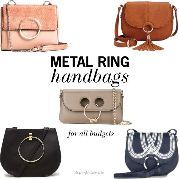 Metal ring purses | see all the picks at www.shoppingmycloset.com