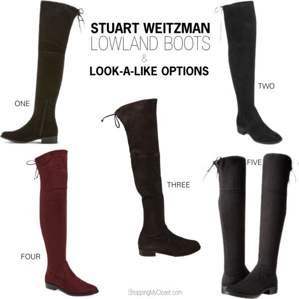 Stuart Weitzman Lowland boots and other wallet friendly options | see all the picks at www.shoppingmycloset.com