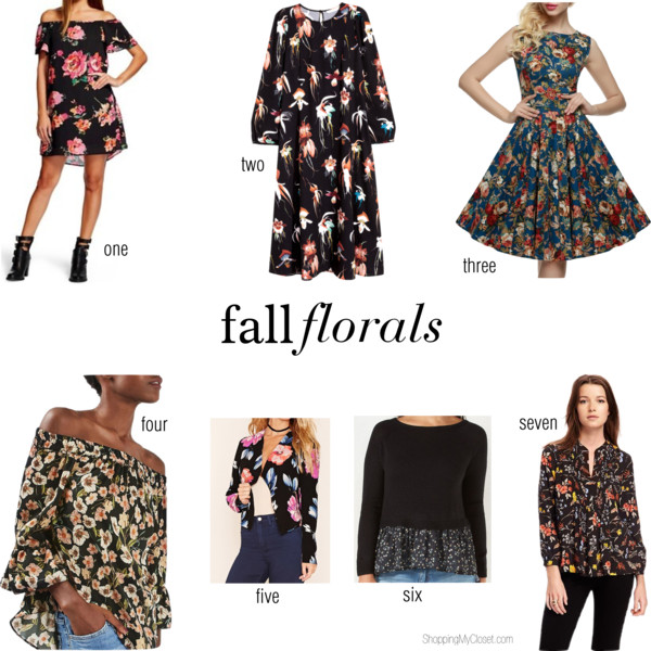 Style: fall florals | see all the picks at www.shoppingmycloset.com