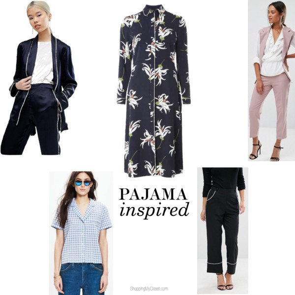 Pajama inspired daytime look | see all the picks at www.shoppingmycloset.com