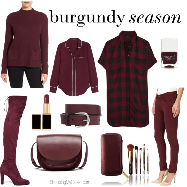 Style: burgundy season | see all the picks at www.shoppingmycloset.com