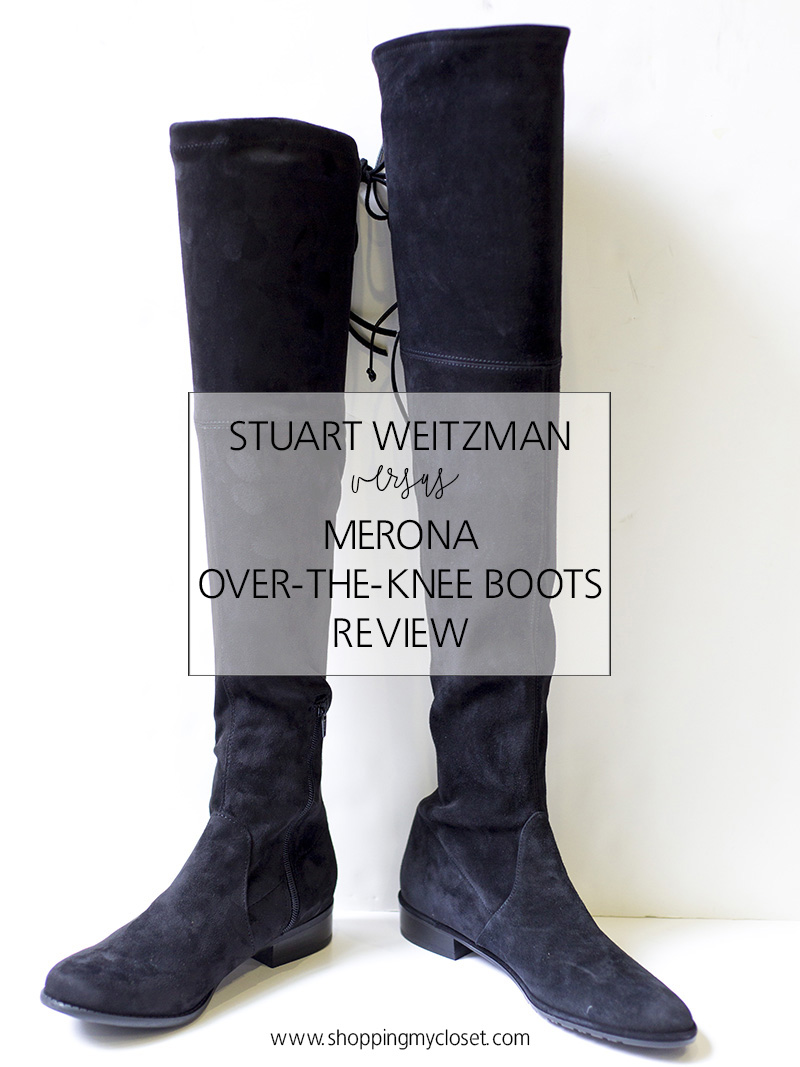Review: Stuart Weitzmand vs Merona over-the-knee boots | see the full review at www.shoppingmycloset.com