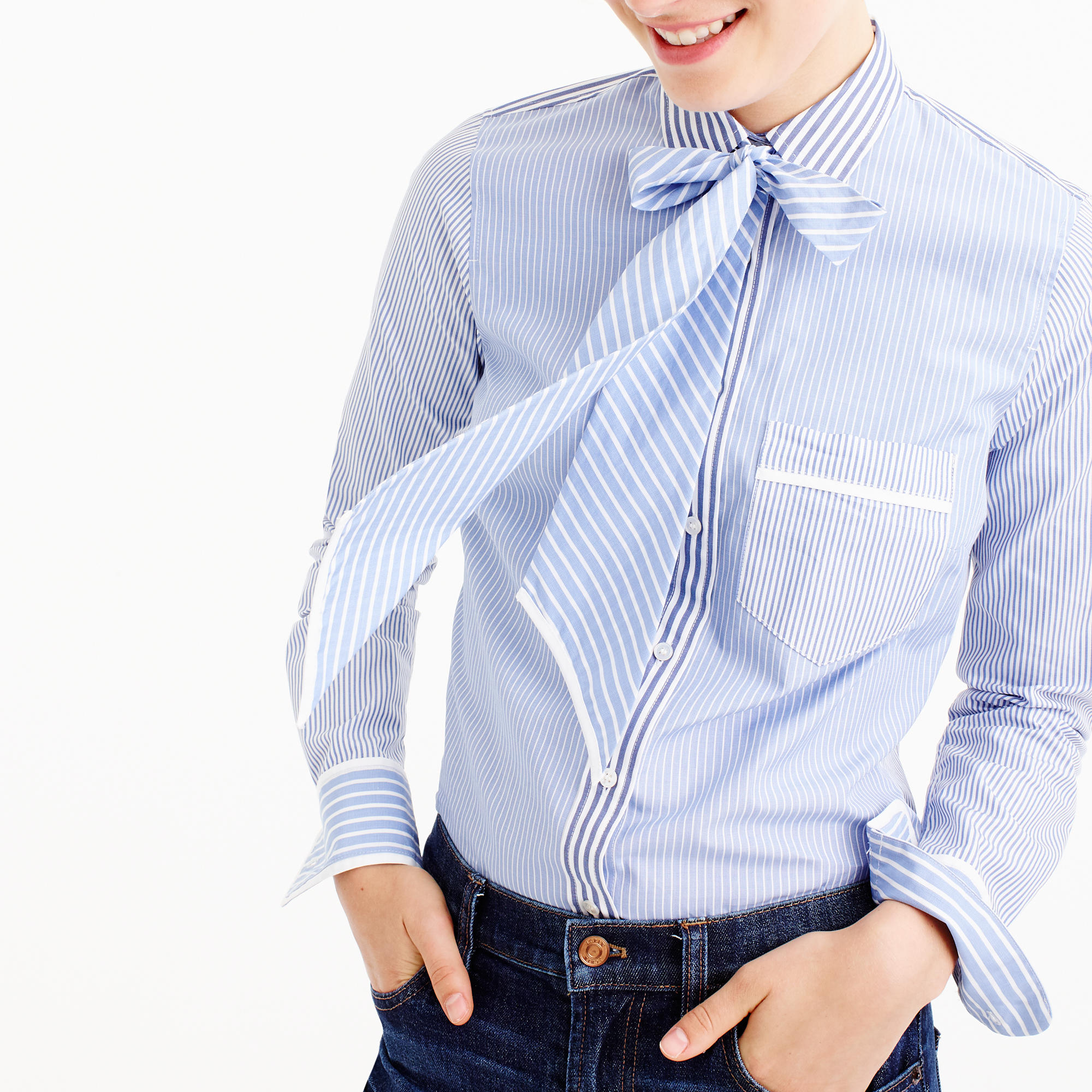 J Crew neck tie cocktail shirt |  | see more on www.shoppingmycloset.com #jcrew
