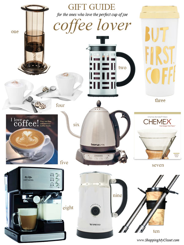 Gift guide coffee aficionado  | see all the picks at www.shoppingmycloset.com