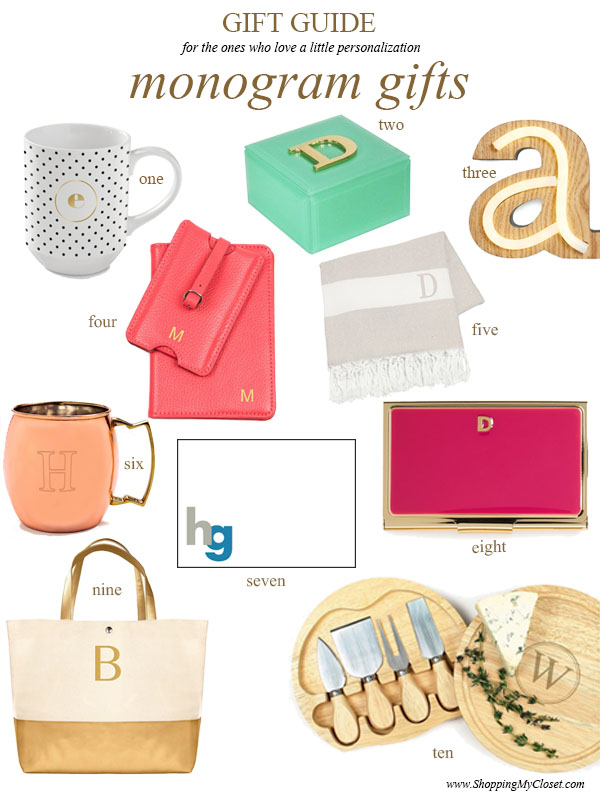 Gift guide: monogram gifts | see all the picks at www.shoppingmycloset.com