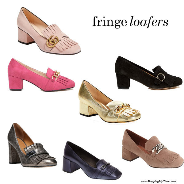 Fringe loafers for all budgets | see all the picks at www.shoppingmcyloset.com