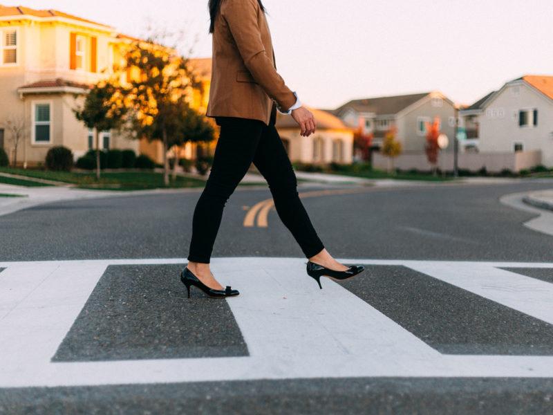 Camel blazer | stripe tee | black jeans | bow heels | www.shoppingmycloset.com   @jcrew #jcrew @ferragamo #ferragamo
