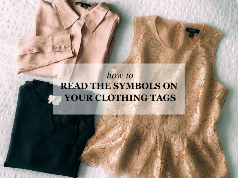 How to read the care symbols on your clothing tags (+free printable) | see all the details on www.shoppingmycloset.com
