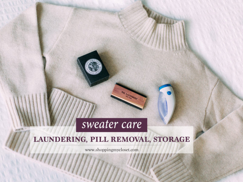 How to care for sweaters: laundering, pill removal, storage | www.shoppingmycloset.com