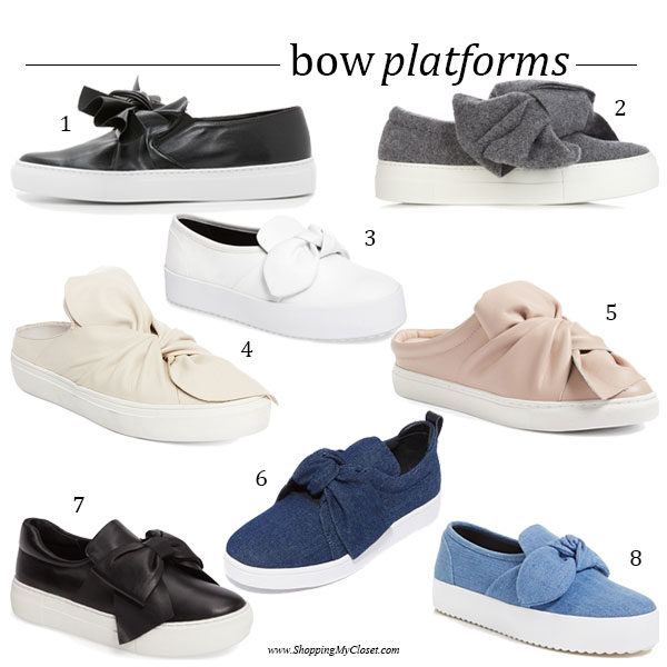 Style: bow platform flats | see all the picks at www.shoppingmycloset.com
