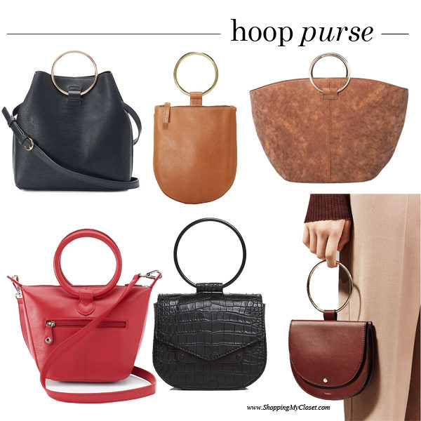 Style: hoop purses | see all the picks at www.shoppingmycloset.com