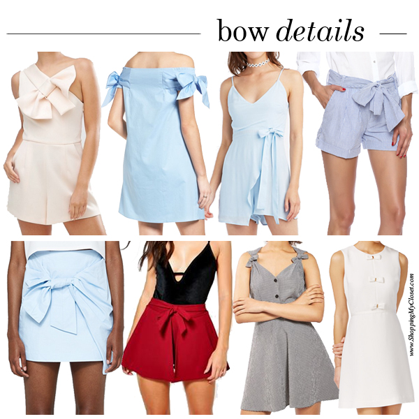 Style: bow embellished pieces | see all the picks at www.shoppingmycloset.com