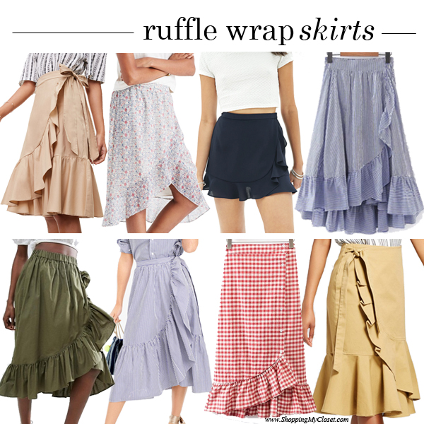 Style: ruffle wrap skirts | see all the picks at www.shoppingmycloset.com