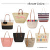 Best straw totes starting at $15 | see all the picks at www.shoppingmycloset.com