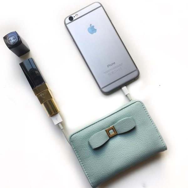 Bow wallet | lipstick power bank | www.shoppingmycloset.com