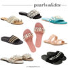 Embellished pearl slide sandal | see all the picks at www.shoppingmycloset.com