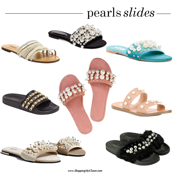 Embellished pearl slide sandal   see all the picks at www.shoppingmycloset.com