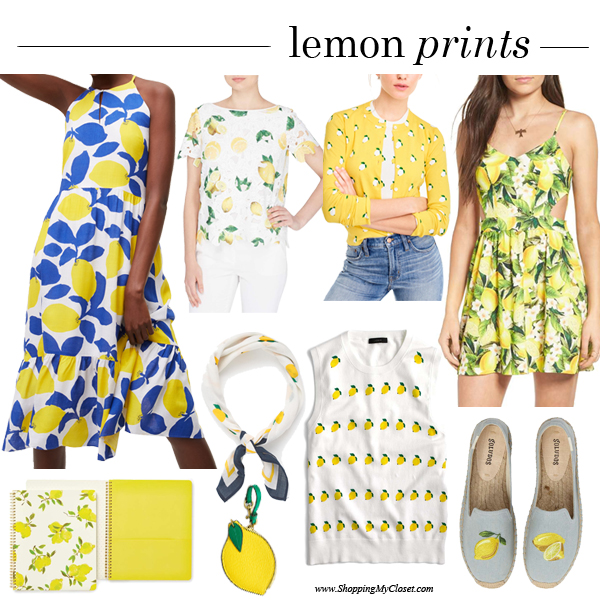 Lemon prints | see all the picks at www.shoppingmycloset.com