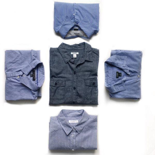 Blue button down shirts | see all the styles at www.shoppingmycloset.com