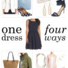 One dress styled 4 ways | see all the styling looks on www.shoppingmycloset.com