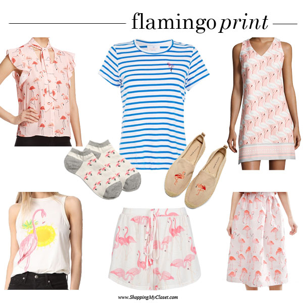 Flamingo prints | see all the picks at www.shoppingmycloset.com