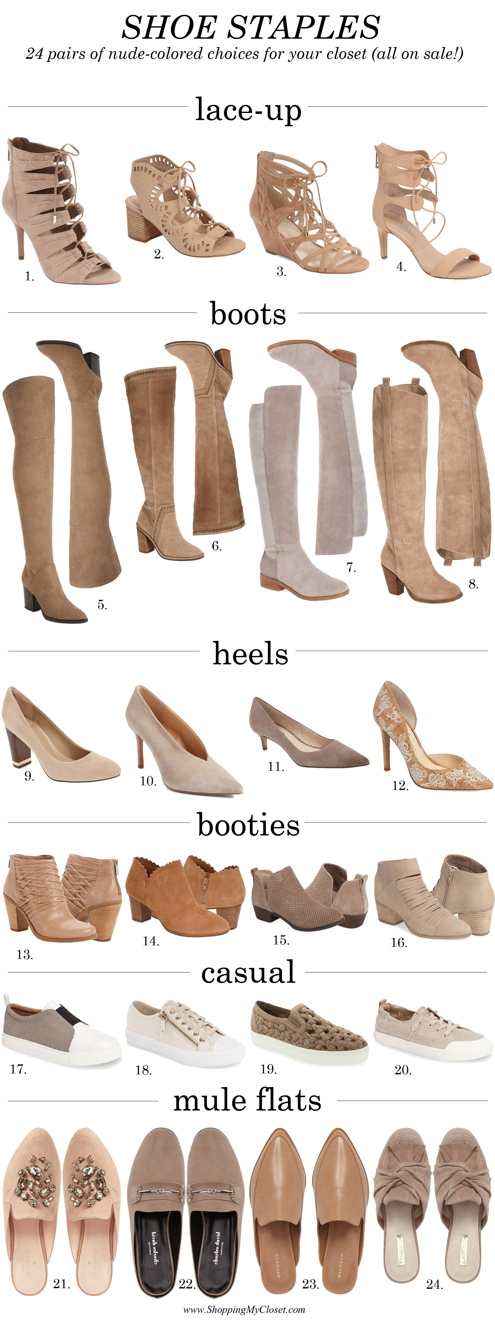 Shoe staples on sale | see all the picks at www.shoppingmycloset.com