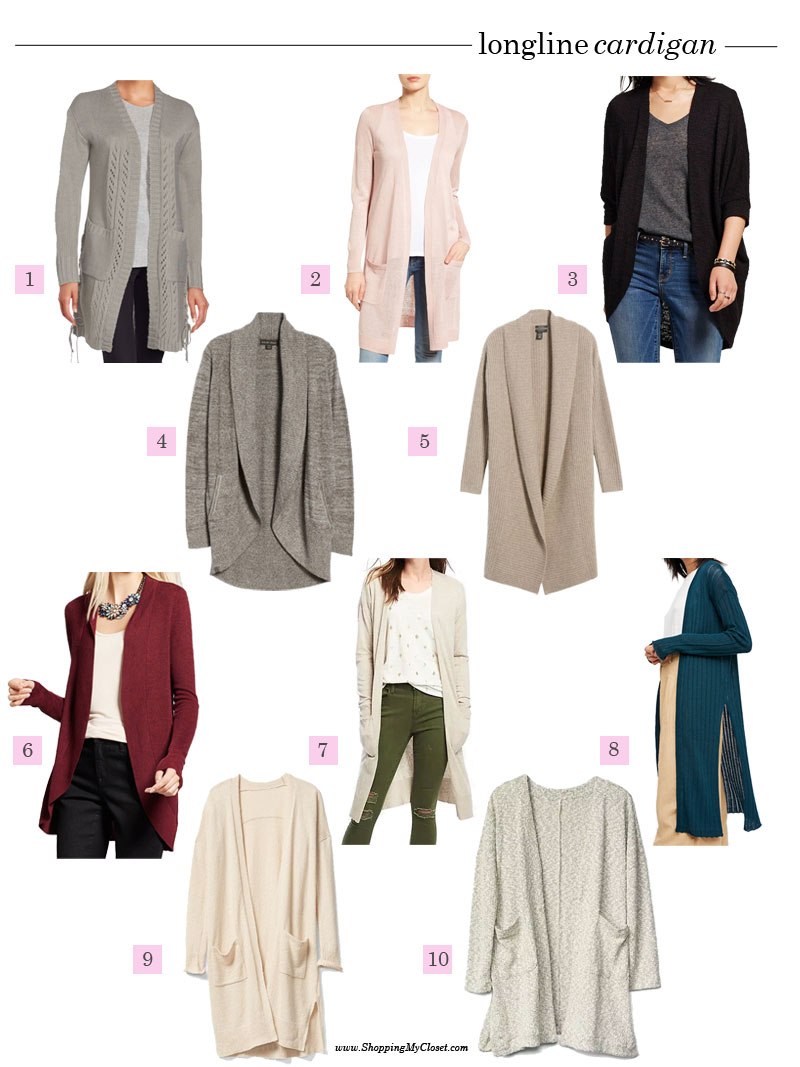 Long cardigans for all budgets | see all the picks at www.shoppingmycloset.com