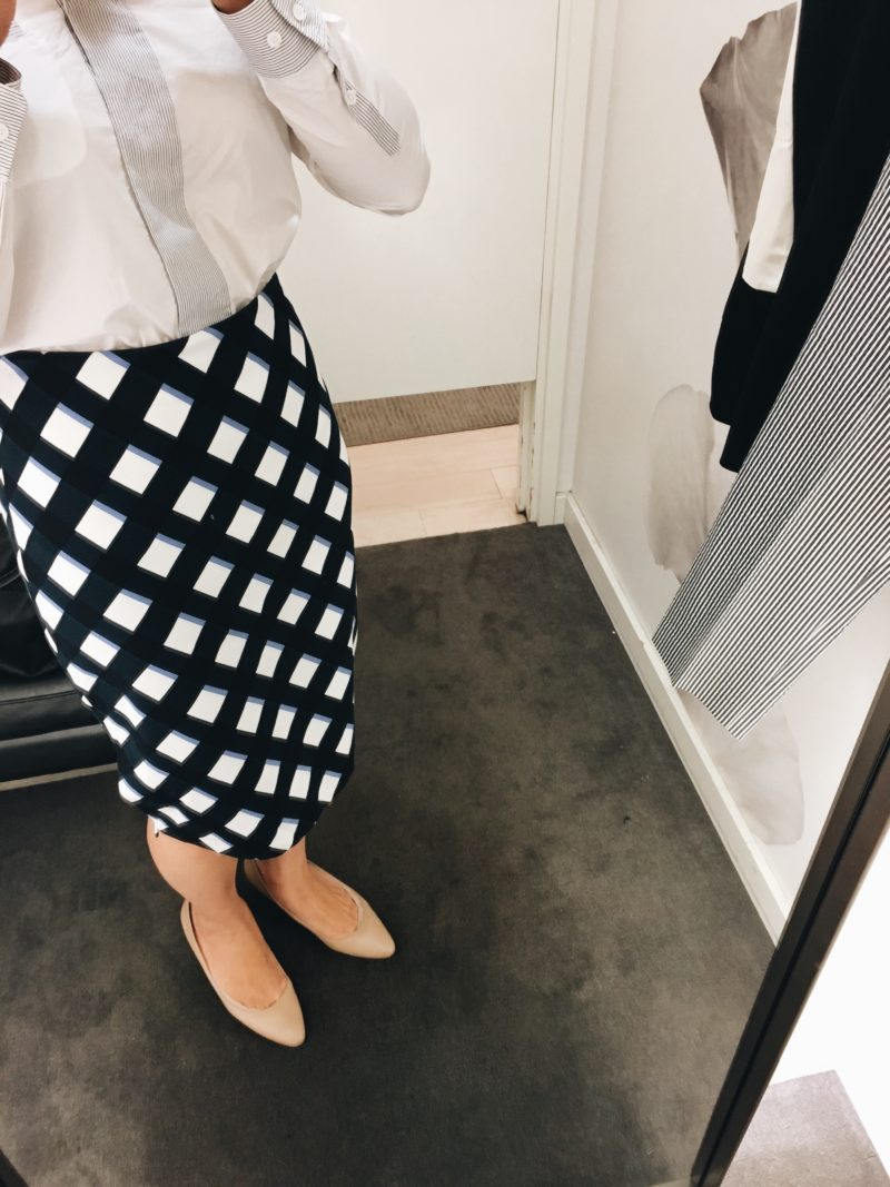 Gingham blue pencil skirt (http://fave.co/2wytQBj)   see the full look at www.shoppingmycloset.com