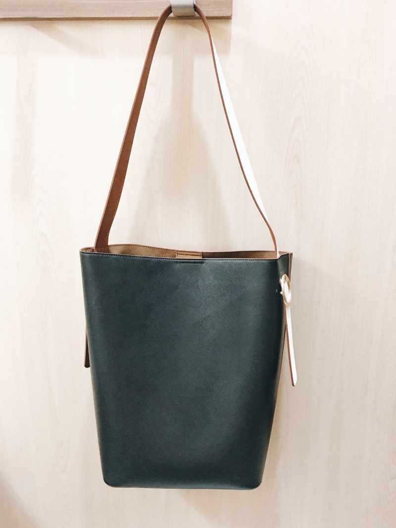 Black colorblock tote bag (http://fave.co/2wygfKj)   see the full look at www.shoppingmycloset.com