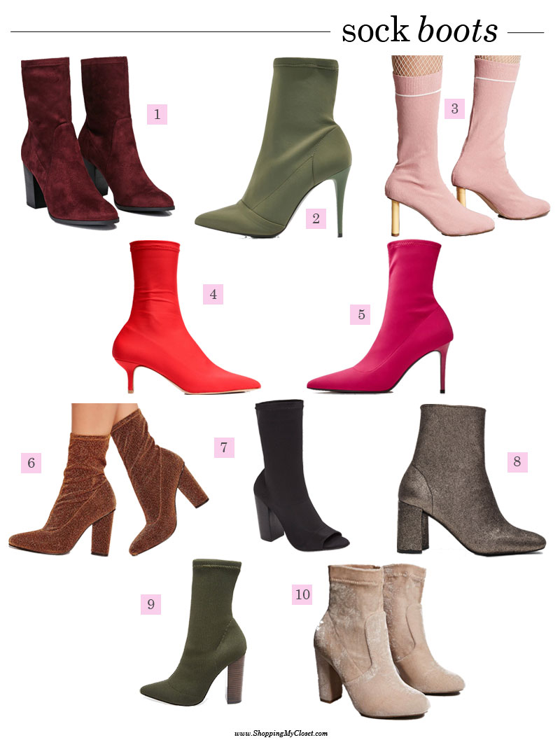 Style: sock boots | see all the picks at www.shoppingmycloset.com