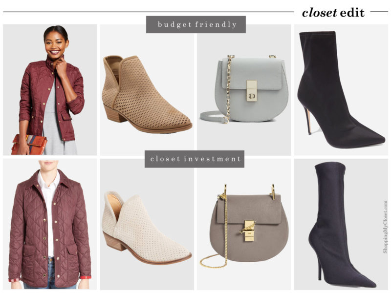 Fall 2017 closet edit: see all the budget friendly and closet investment options | www.shoppingmycloset.com