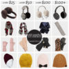 Cold weather accessories for all budgets (scarves, hats, gloves, earmuffs) | see all the picks at www.shoppingmycloset.com